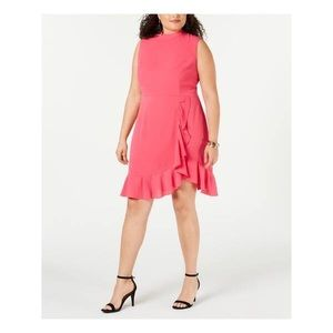NWT Betsey Johnson Pink 16W Ruffle Dress